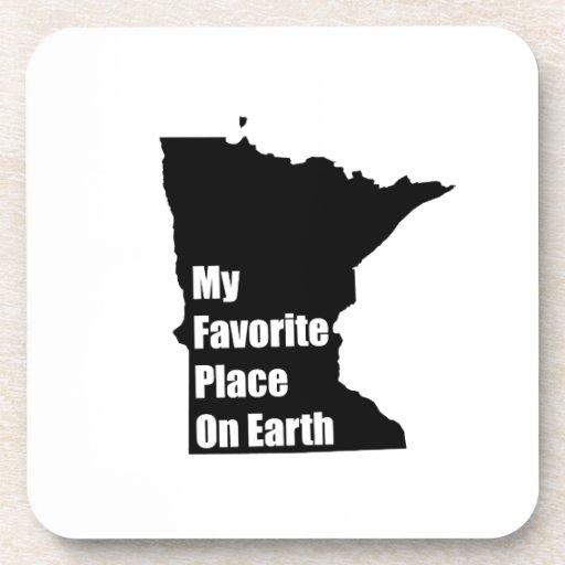 Minnesota mi lugar preferido en la tierra posavasos de bebidas