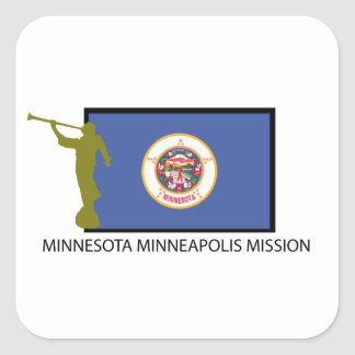 MINNESOTA MINNEAPOLIS MISSION LDS CTR SQUARE STICKERS