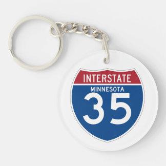 Minnesota MN I-35 Interstate Highway Shield - Keychain