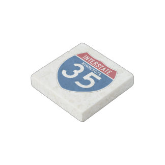 Minnesota MN I-35 Interstate Highway Shield - Stone Magnet