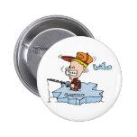 Minnesota MN Ice Fishing Vintage Travel Souvenir 2 Inch Round Button