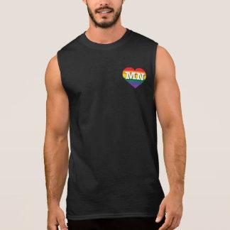 Minnesota MN rainbow pride heart Sleeveless Shirts