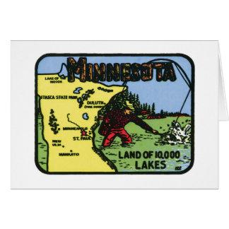 Minnesota MN Vintage Label Card