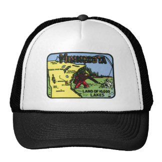 Minnesota MN Vintage Label Hats
