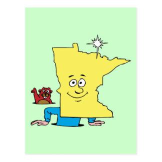 Minnesota MN Vintage Travel Souvenir Caricature Postcard