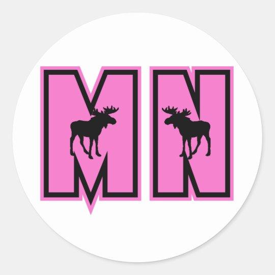 Minnesota Moose Classic Round Sticker