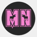 Minnesota Moose Round Sticker