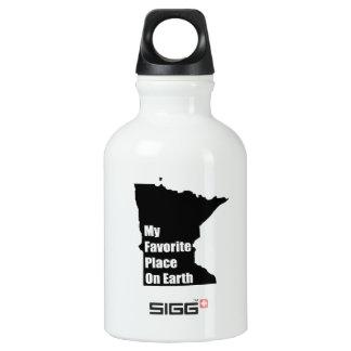 Minnesota My Favorite Place On Earth Aluminum Water Bottle
