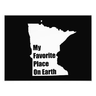 Minnesota My Favorite Place On Earth Photograph