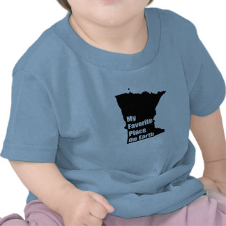 Minnesota My Favorite Place On Earth Tee Shirts