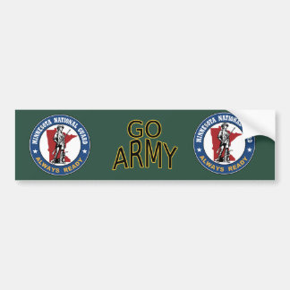 Minnesota National Guard Car Bumper Sticker