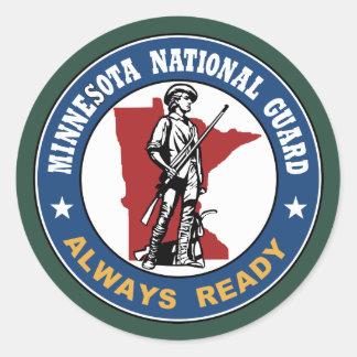 Minnesota National Guard Classic Round Sticker