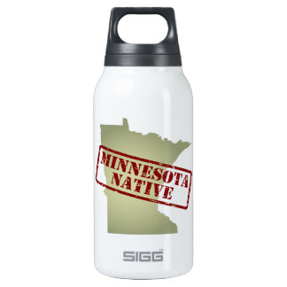 Minnesota Native Stamped on Map Insulated Water Bottle