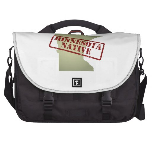 Minnesota Native Stamped on Map Bags For Laptop