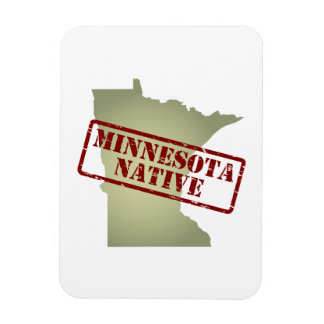 Minnesota Native Stamped on Map Magnet