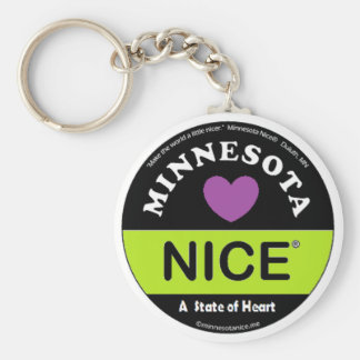 Minnesota Nice -a State of Heart Keychain