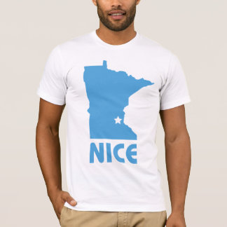 Minnesota Nice funny American Apparel Fitted T T-Shirt