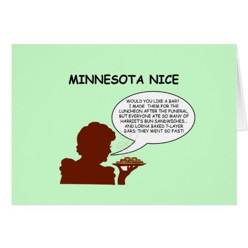 Minnesota Nice Greeting Card