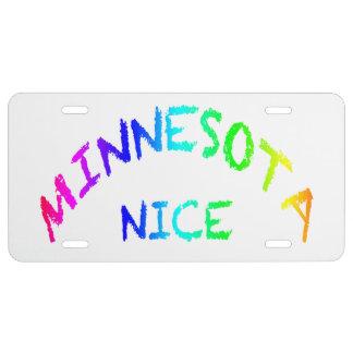 Minnesota Nice License Plate