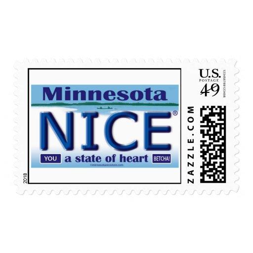 Minnesota Nice License Plate Stamps