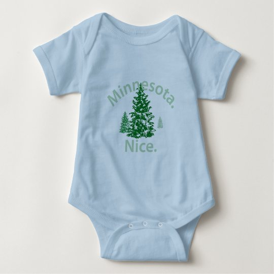 Minnesota Nice.  Period! Baby Bodysuit