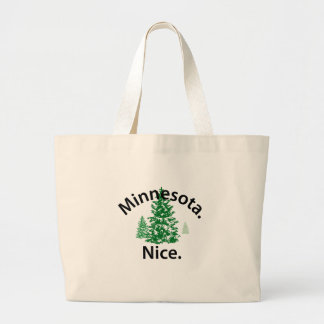Minnesota Nice Period black text Canvas Bags