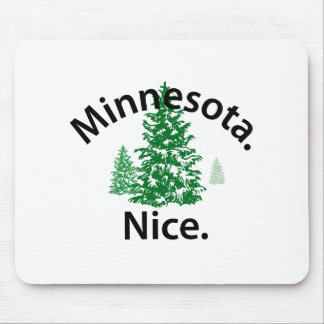 Minnesota Nice.  Period! (black text) Mouse Pads