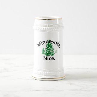 Minnesota Nice.  Period! (black text) Coffee Mugs