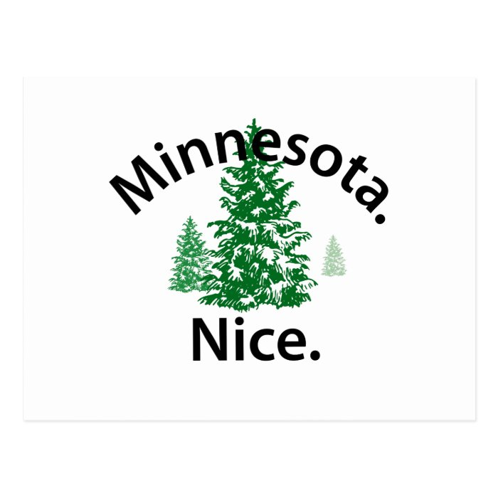 Minnesota Nice.  Period! (black text) Postcard