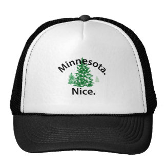 Minnesota Nice.  Period! (black text) Trucker Hat