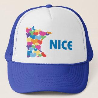 Minnesota Nice with Heart Hat