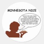 Minnesota Niza Pegatinas Redondas