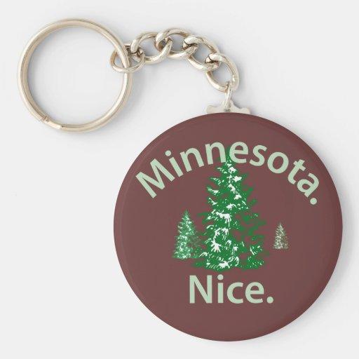 Minnesota Niza.  ¡Período! Llavero Personalizado