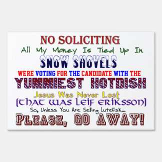 Minnesota No Soliciting Large Sign