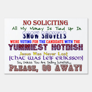 Minnesota No Soliciting Small Sign