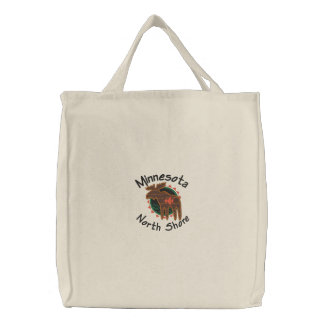 Minnesota North Shore Moose Embroidered Bag