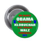 Minnesota para Obama Klobuchar Walz Pin