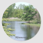 Minnesota Pegatina Redonda
