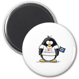 Minnesota penguin fridge magnet