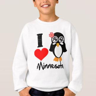 Minnesota Penguin - I Love Minnesota Sweatshirt