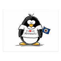 Minnesota penguin postcard