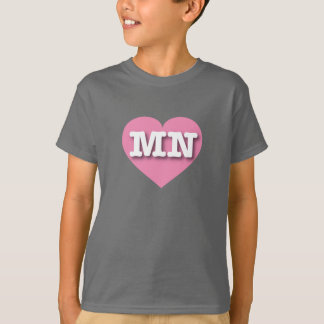 Minnesota Pink Heart - Big Love T-Shirt