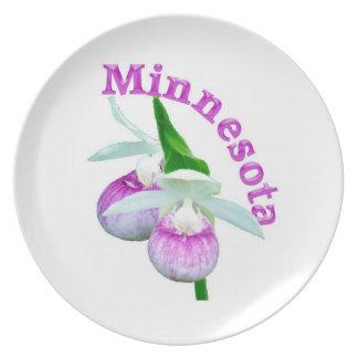 Minnesota pink Lady slipper Dinner Plate