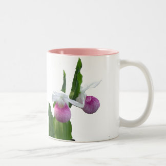 Minnesota, Pink Lady Slipper Two-Tone Coffee Mug