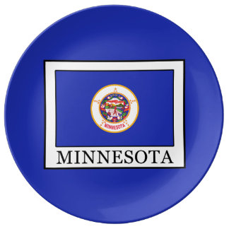 Minnesota Plato De Cerámica