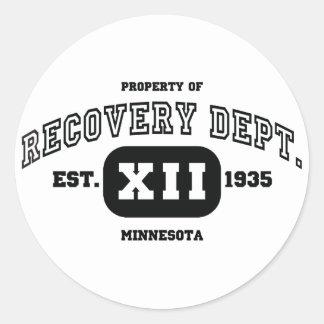 MINNESOTA Recovery Classic Round Sticker