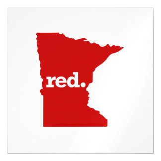 MINNESOTA RED STATE MAGNETIC CARD