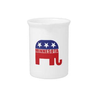 Minnesota Republican Elephant Drink Pitchers