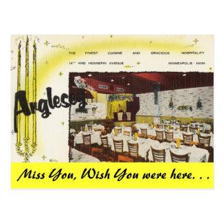 Minnesota, restaurante de Anglesey, Minneapolis Postales