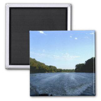 Minnesota River Ride 2 Inch Square Magnet